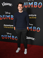 11 March 2019 - Hollywood, California - Manolo Gonzalez. &quot;Dumbo&quot; Los Angeles Premiere held at Ray Dolby Ballroom. Photo <br /> CAP/ADM/BT<br /> &copy;BT/ADM/Capital Pictures