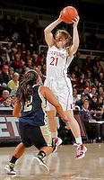 STANFORD, CA - November 30, 2011:  Sara James during Stanford's 93-44 victory over UC Davis in Stanford, California on November 30, 2011.