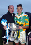 The two greatest midfielders of all time Jack O'Shea and Maurice Fitzgerald pictured after South Kerry won the Kerry County Championship in Killarney o Sunday.<br />Picture by Eamonn Keogh - MacMonagle
