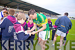 Anthony Maher signs autographs for fans after beating Waterford last Saturday in Fitzgerald Stadium for the Munster GAA football championship