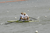 Reading, GREAT BRITAIN, Stroke, Andy TWIGGS-HODGE and Bow, Alex PARTRIDGE, GB Rowing 2007 FISA World Cup Team Announcement, at the GB Training centre, Caversham, England on Thur. 26.04.2007  [Photo, Peter Spurrier/Intersport-images] , Rowing course: GB Rowing Training Complex, Redgrave Pinsent Lake, Caversham, Reading