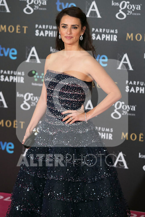Penelope Cruz attend the 2015 Goya Awards at Auditorium Hotel, Madrid,  Spain. February 07, 2015.(ALTERPHOTOS/)Carlos Dafonte)