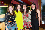 Friends on there way to university having a night out at Ristorante Uno on Thursday were l-r Caoimhe O'Sullivan, Marykate McGuire, Clodagh Daly, Sarah Joe Lynch