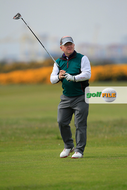 playing with Jonathan Yates (Naas) on the 3rd tee during the Flogas Irish Amateur Open Championship Am-Am at Royal Dublin on Monday 9th May 2016.<br /> Picture:  Thos Caffrey / www.golffile.ie