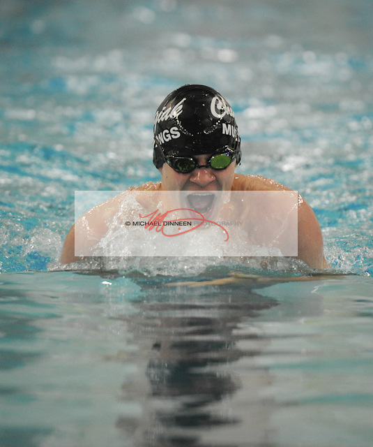 Chugiak's Reid Blackstone in the 200 IM at Bartlett High Saturday, Oct. 29, 2016.  Photo for the Star by Michael DInneen