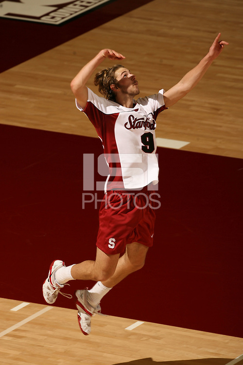 19 January 2007: Matt Ceran during Stanford's 3-0 loss to BYU at Maples Pavilion in Stanford, CA.