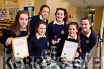 Students from Presentation Secondary School, Tralee, pictured on Friday last, as they won the senior category and over all award at the Eco Unesco Science Competition 'If your Dog Poops you Scoop', l-r: Erika O'Sullivan, Mary Fitzpatrick, Sarah Buckley, Emma Sheehy, Nora O'Connell and Rachel McCarthy.