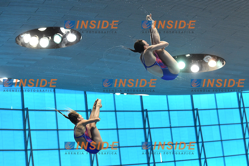 BLAGG Alicia GALLANTREE Rebecca GBR Silver Medal <br /> Men's 10m Platform Final <br /> London, Queen Elizabeth II Olympic Park Pool <br /> LEN 2016 European Aquatics Elite Championships <br /> Diving  <br /> Day 07 15-05-2016<br /> Photo Andrea Staccioli/Deepbluemedia/Insidefoto