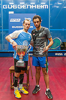 Award ceremony of the 2014 METROsquash Windy City Open held at the University Club of Chicago in Chicago, IL  during  February 25 - March 3, 2014. In the womens Laura Massaro (ENG) won over  Raneem El Welily, (EGY) and in the mens Gregory Gaultier (FRA) won over Ramy Ashour (EGY).