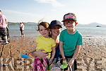 Mary, Robin and Charlie Aslett enjoying the sunny 28c warm evening in Fenit on Thursday