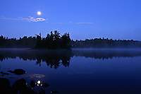 """Moonset Over Sawbill Lake""<br />