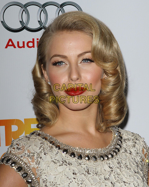 Julianne Hough.Trevor Live at The Hollywood Palladium in Hollywood, California, USA..December 4th, 2011.headshot portrait white grey gray lace beads beaded red lipstick make-up beauty .CAP/ADM/KB.©Kevan Brooks/AdMedia/Capital Pictures.
