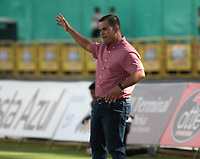 NEIVA- COLOMBIA, 06-10-2018:Diego Estrada director técnico (E)   de Alianza Petrolera contra el Atlético Huila durante partido por la fecha 13 de la Liga Águila II 2018 jugado en el estadio Guillermo Plazas Alcid de la ciudad de Neiva. /Diego Estrada coach of  Alianaza Petrolera  during match agaisnt  of Atletico Huila  during the match for the date 13 of the Liga Aguila II 2018 played at the Guillermo Plazas Alcid Stadium in Neiva  city. Photo: VizzorImage / Sergio Reyes / Contribuidor.