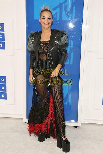 NEW YORK - AUGUST 28: Rita Ora arrives at the 2016 MTV Video Music Awards at Madison Square Garden on August 28, 2016 in New York City.<br /> CAP/MPI99<br /> &copy;MPI99/Capital Pictures