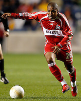 Chicago Fire forward Andy Herron (26) brings the ball down the field.  The Chicago Fire defeated the Los Angeles Galaxy 3-1 in the championship game of the U.S. Open Cup at Toyota Park in Bridgeview, IL on September 27, 2006...