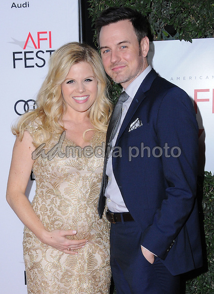 "10 November 2016 - Hollywood, California. Megan Hilty, Brian Gallagher. AFI FEST 2016 - Opening Night Premiere Of ""Rules Don't Apply"" held at TCL Chinese Theater. Photo Credit: Birdie Thompson/AdMedia"