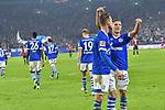 03.11.2018, Veltins-Arena, Gelsenkirchen, GER, 1. FBL, FC Schalke 04 vs. Hannover 96, DFL regulations prohibit any use of photographs as image sequences and/or quasi-video<br /> <br /> im Bild Mark Uth (#7, FC Schalke 04) jubelt nach seinem Tor zum 3:1 mit Amine Harit (#25, FC Schalke 04) <br /> <br /> Foto © nordphoto/Mauelshagen