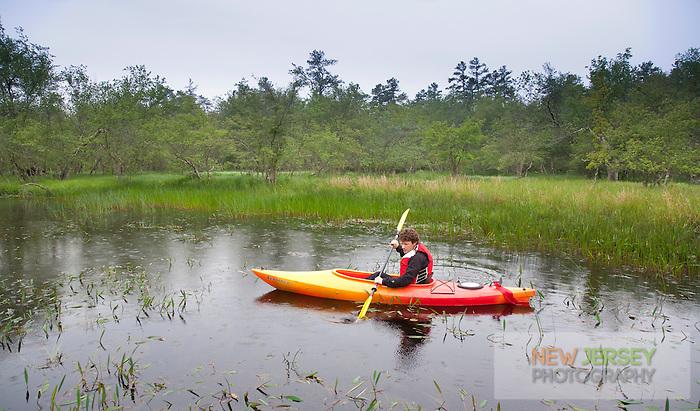 Kayaker, Batsto River, New Jersey