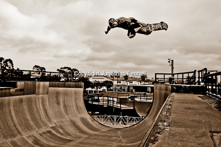 Pierre Luc Gagnon in Encinitas, CA preparing for X Games 14 in Los Angeles, CA