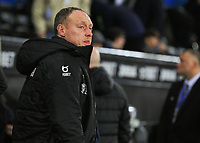 2nd January 2020; Liberty Stadium, Swansea, Glamorgan, Wales; English Football League Championship, Swansea City versus Charlton Athletic; Steve Cooper manager of Swansea City - Strictly Editorial Use Only. No use with unauthorized audio, video, data, fixture lists, club/league logos or 'live' services. Online in-match use limited to 120 images, no video emulation. No use in betting, games or single club/league/player publications