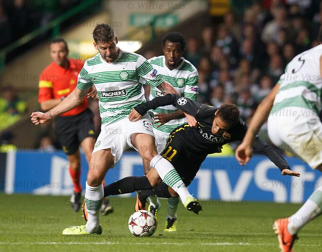 Charlie Mulgrew and Neymar