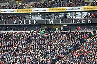 Frankfurter Fans haben den Adler im Herzen - 27.04.2019: Eintracht Frankfurt vs. Hertha BSC Berlin, 31. Spieltag Bundesliga, Commerzbank Arena DISCLAIMER: DFL regulations prohibit any use of photographs as image sequences and/or quasi-video.