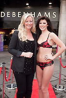 Ultimo founder Michelle Mone, and former Miss Scotland and Nieve Jennings launches newly-refurbished Debenhams store, Glasgow   .Picture Johnny Mclauchlan/Universal News and Sport (Scotland)28/10/2010