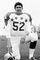 Bill Danychuk 1970 Canadian Football League Allstar team. Copyright photograph Ted Grant