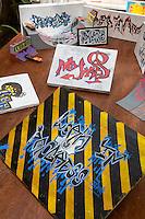 Calligraphic Art on Display, Biannual Arts Festival, Goree Island, Senegal.