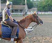 Funny Moon, trained by Christophe Clement, trains for Alabama Stakes