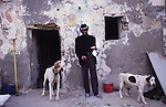 Sixty five year old Tito, swopped crack for cocaine, once it became to expensive. Due to his drug addiction, he lost his family and survives day by day. Pescadera barrio. Almeria, Spain 2001