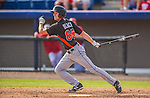 9 March 2013: Miami Marlins infielder Danny Black in action during a Spring Training game against the Washington Nationals at Space Coast Stadium in Viera, Florida. The Nationals edged out the Marlins 8-7 in Grapefruit League play. Mandatory Credit: Ed Wolfstein Photo *** RAW (NEF) Image File Available ***