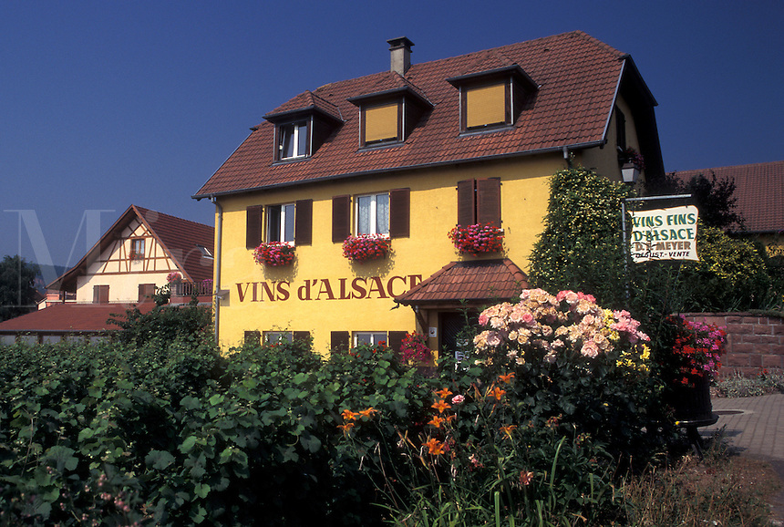 France, Alsace, Haut-Rhin, Europe, wine region, Wine House, in the wine region of Alsace.