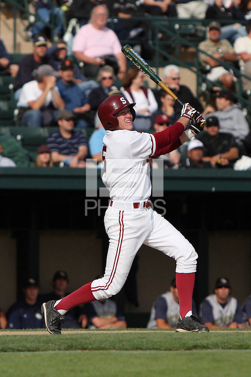 30 May 2008: Stanford Cardinal Zach Jones during Stanford's 4-2 loss against the UC Davis Aggies in game 1 of the NCAA Stanford Regional at Sunken Diamond in Stanford, CA.