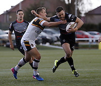 Matt Garside in action for London during the Kingstone Press Championship game between London Broncos and Bradford Bulls at Ealing Trailfinders, Ealing, on Sun March 5, 2017