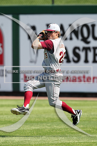 Florida State Seminoles James Ramsey #23 during a scrimmage vs the Philadelphia Phillies  at Bright House Field in Clearwater, Florida;  February 24, 2011.  Philadelphia defeated Florida State 8-0.  Photo By Mike Janes/Four Seam Images