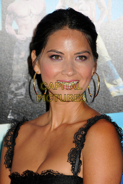 "Olivia Munn.""Magic Mike"" Los Angeles Film Festival 2012 Premiere held at Regal Cinemas LA Live, Los Angeles, California, USA..June 24th, 2012.headshot portrait black lace gold hoop earrings  .CAP/ADM/BP.©Byron Purvis/AdMedia/Capital Pictures."