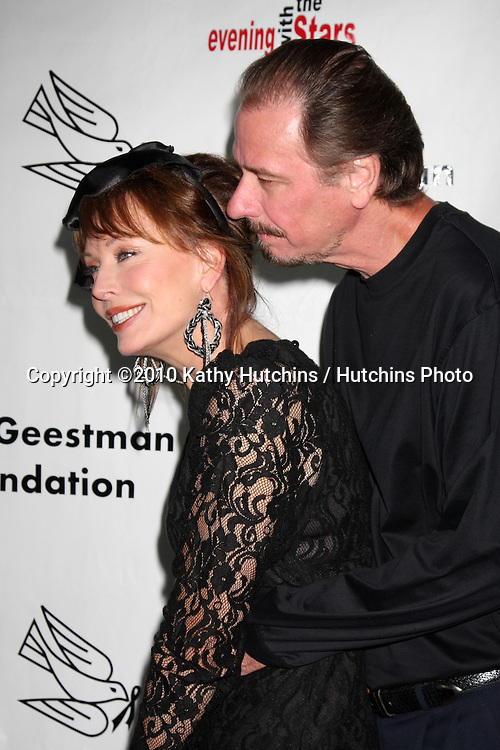 """LOS ANGELES - OCT 9:  Lesley-Anne Down, husband  Don E. FauntLeRoy arrives at the """"Evening WIth the Stars 2010"""" benefit for the Desi Geestman Foundation at Farmer's Market.Theatre on October 9, 2010 in Los Angeles, CA"""