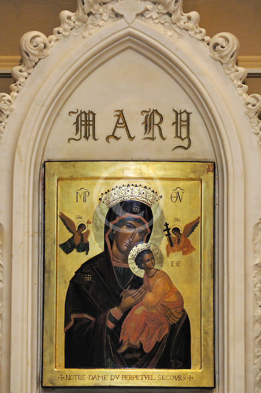 Canada, Montreal, Saint Patricks Basilica, Icon of Mary