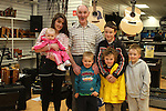 Tommy Leddy with Chloe, Libby, Cameron, Taidgh, Reece and Evan at The Sound Shop Birthday Celebrations...(Photo credit should read Jenny Matthews www.newsfile.ie)....This Picture has been sent you under the conditions enclosed by:.Newsfile Ltd..The Studio,.Millmount Abbey,.Drogheda,.Co Meath..Ireland..Tel: +353(0)41-9871240.Fax: +353(0)41-9871260.GSM: +353(0)86-2500958.email: pictures@newsfile.ie.www.newsfile.ie.