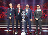 Nationaltrainer Gruppe B: Markku Kanevra (Finnland), Age Hareide (Dänemark), Stanislav Tschertschessow (Russland),  Ryan Giggs (Wales)  - 30.11.2019: UEFA EURO2020 Auslosung, Romexpo Bukarest, DISCLAIMER: UEFA regulations prohibit any use of photographs as image sequences and/or quasi-video.