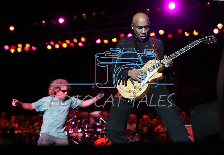 Vic Johnson performs with Sammy Hagar at the Harveys Outdoor Arena in Stateline, Nev., on Saturday, Sept. 10, 2011. .Photo by Cathleen Allison