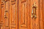 Detail of a door in the Chueca neighborhood of Madrid, Spain
