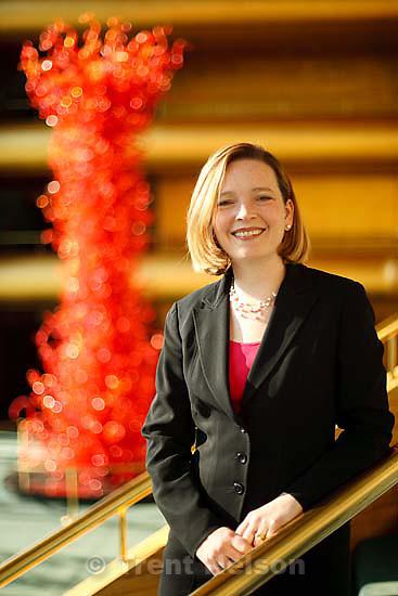 Salt Lake City - Melia Tourangeau, president and CEO for the Utah Symphony & Opera Tuesday, September 1 2009. .
