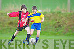 David Kenny Ballyhar is tackled by Park's Tomas Leen during their league clash in Ballyhar on Saturday