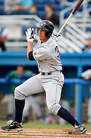 July 3, 2009:  First Baseman Richard Orton of the Jamestown Jammers at bat during a game at Dwyer Stadium in Batavia, NY.  The Jammers are the NY-Penn League Short-Season Class-A affiliate of the Florida Marlins.  Photo by:  Mike Janes/Four Seam Images