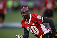 SAN FRANCISCO, CA - JULY 12:  Former San Francisco 49ers great Jerry Rice in action during the Legends of Candlestick flag football game at Candlestick Park in San Francisco, California on July 12, 2014. Photo by Brad Mangin