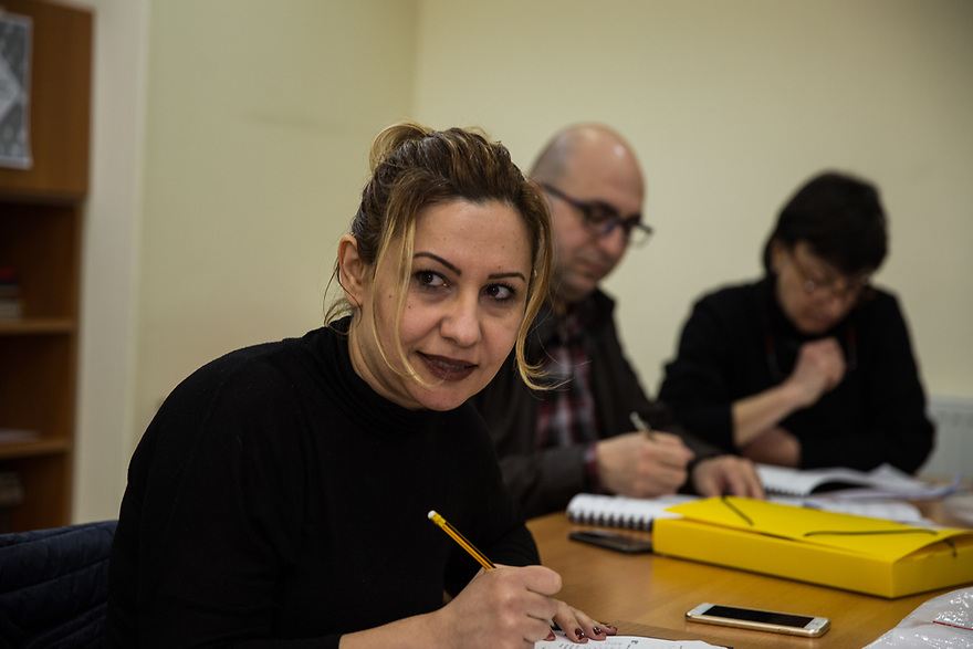 Dalar Baghdo participates in Russian language classes for Syrian-Armenian refugees at KASA Foundation, part of the the Vocational Educational Training (VET) program.