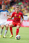Maxim Kanunnikov (RUS), Toby Alderweireld (BEL), JUNE 22, 2014 - Football / Soccer : FIFA World Cup Brazil 2014 Group H match between Belgium 1-0 Russia at the Maracana stadium in Rio de Janeiro, Brazil. (Photo by Maurizio Borsari/AFLO)