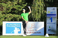 Oliver Wilson (ENG) in action during the second round of the Kazakhstan Open presented by ERG played at Zhailjau Golf Resort, Almaty, Kazakhstan. 14/09/2018<br /> Picture: Golffile | Phil Inglis<br /> <br /> All photo usage must carry mandatory copyright credit (© Golffile | Phil Inglis)
